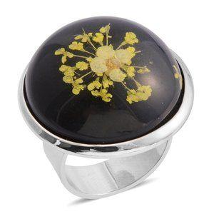 $60 NWT Large Unusual Bauble Flower Petal Ring